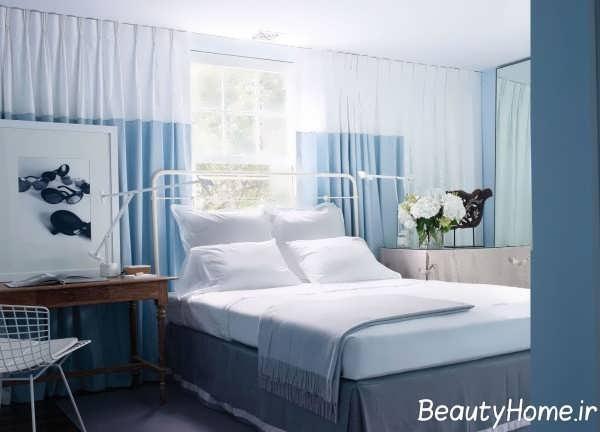 دکوراسیون اتاق خواب مستر آبی