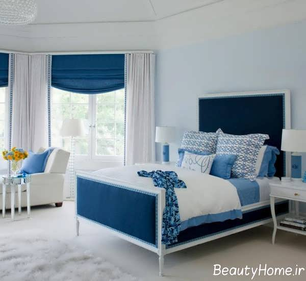 مدرن ترین دکوراسیون اتاق خواب آبی