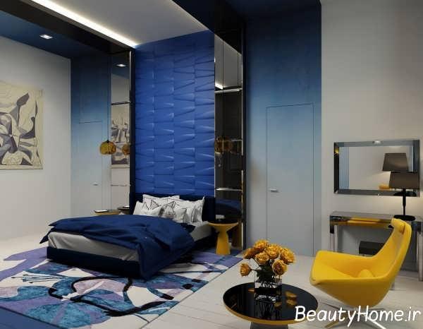 دکوراسیون اتاق خواب به روز آبی