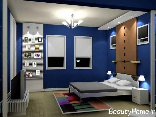 دکوراسیون اتاق خواب بی نظیر آبی