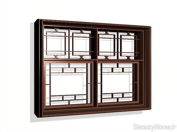 مدل پنجره چوبی برای ساختمان