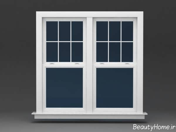 مدل پنجره ساده و سفید برای ساختمان