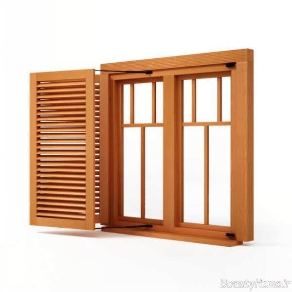مدل پنجره با قاب چوبی