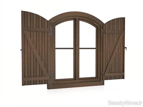 پنجره چوبی ساختمان