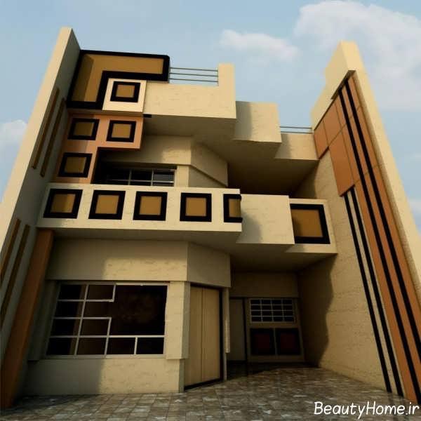 طرح سرامیک متفاوت نمای ساختمان
