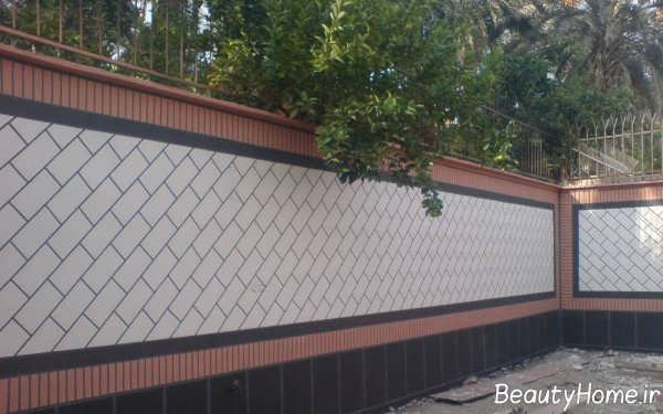 سرامیک در نمای ساختمان ویلا