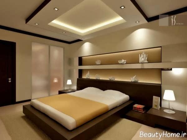 نورپردازی مخفی سقف اتاق خواب هتل