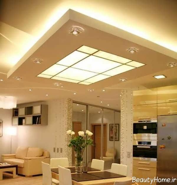 دیزاین نورپردازی مخفی سقف