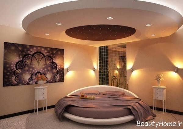 انواع نورپردازی مخفی سقف اتاق خواب اصلی