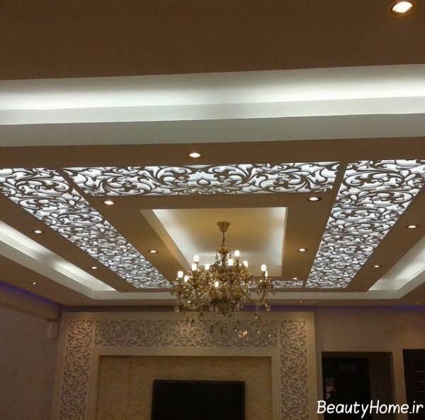 طرح های نور مخفی برای سقف پذیرایی