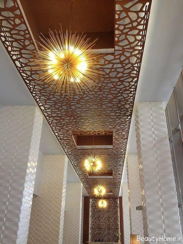 طرح های نور مخفی برای سقف تجاری