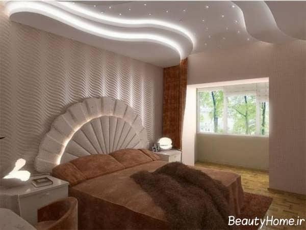 نورپردازی مخفی سقف اتاق خواب زوج ها