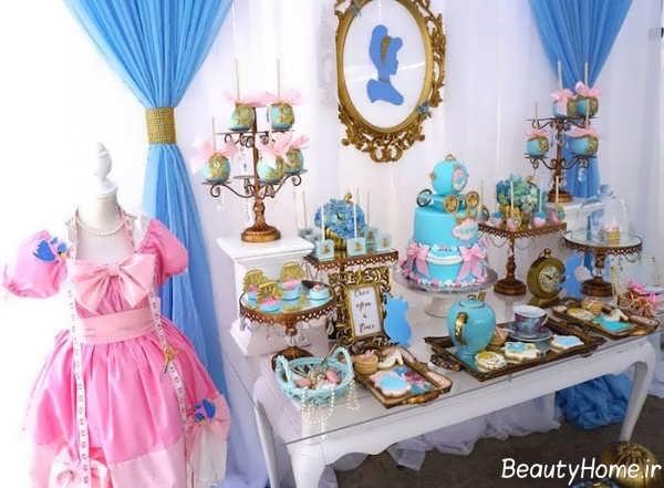 تزیین اتاق تولد با تم تولد سیندرلا
