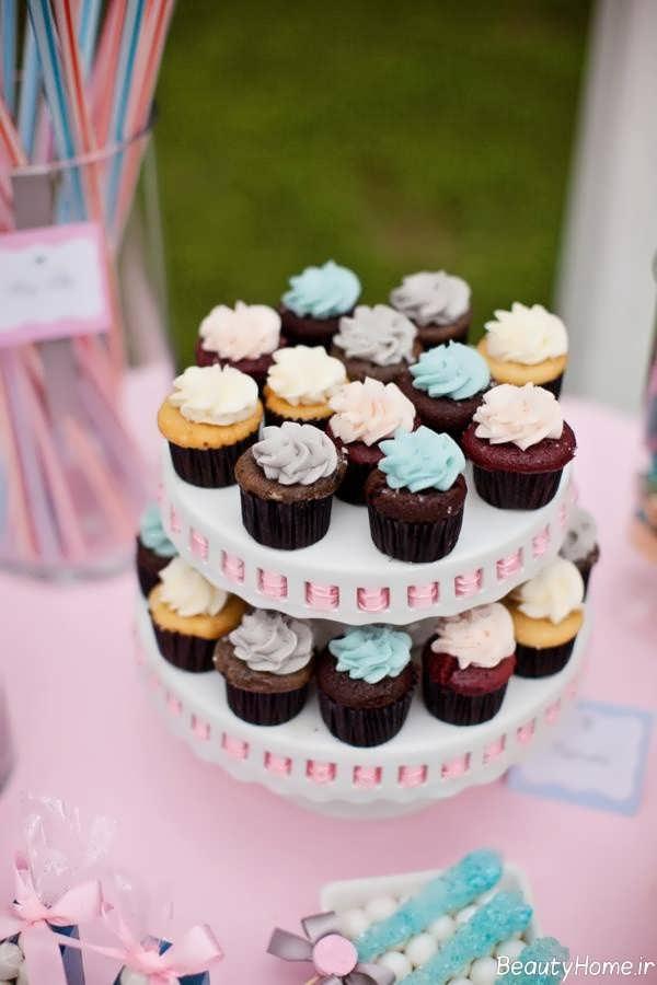تزیین کاپ کیک با تم تولد دخترانه سیندرلا
