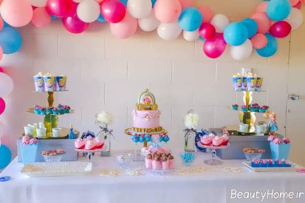 تزیین اتاق تولد با تم تولد پرنسس سیندرلا