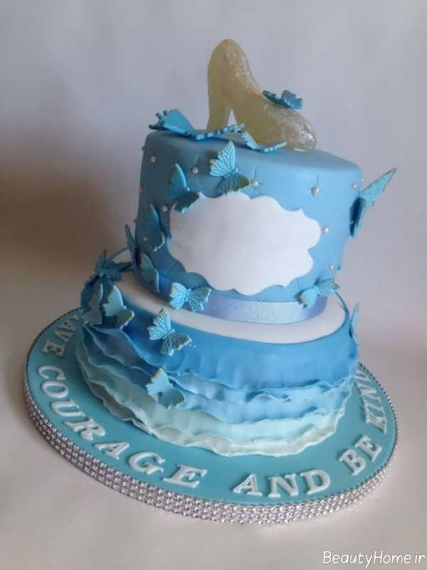 تزیین کیک تولد با طرح سیندرلا