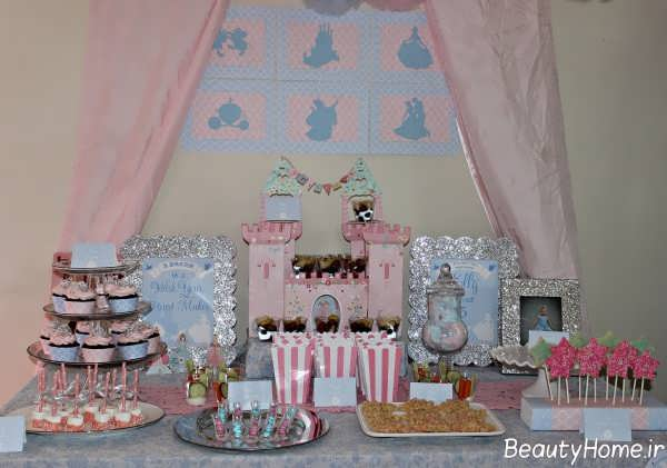تزیین اتاق تولد با تم سیندرلا