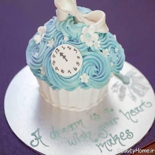 تزیین کاپ کیک با تم تولد سیندرلا