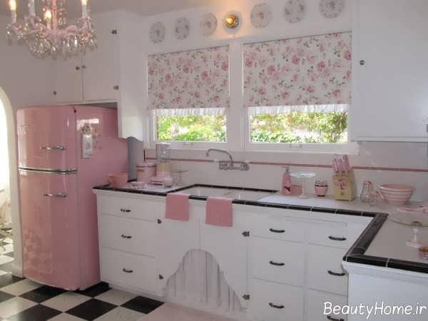 مدل پرده گلدار آشپزخانه