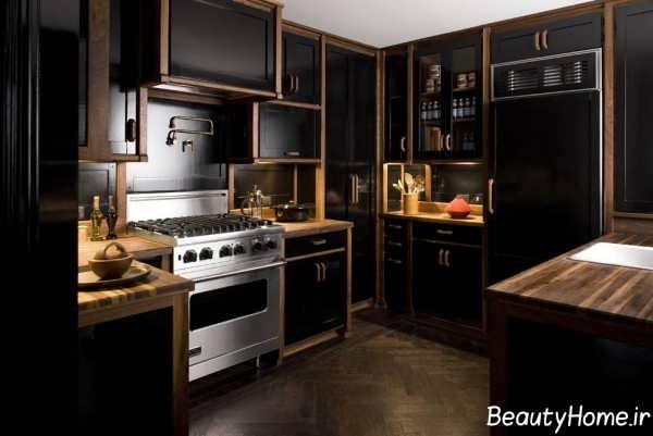 دکوراسیون متفاوت آشپزخانه های تیره