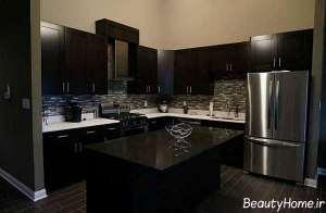 طرح های دکوراسیون مشکی آشپزخانه های تیره