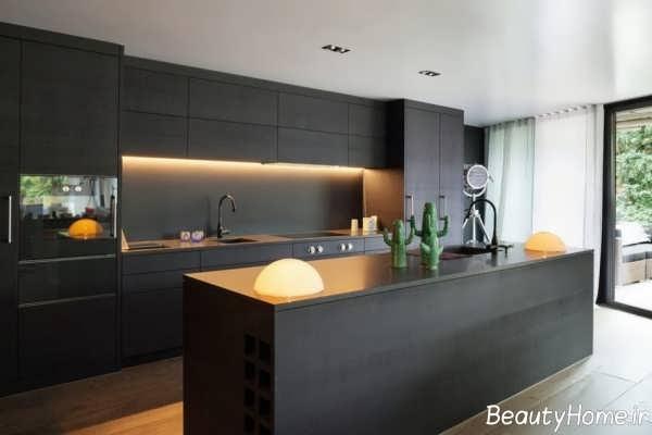 انواع طراحی آشپزخانه های تیره