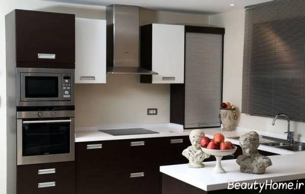 جدیدترین دکوراسیون آشپزخانه های تیره
