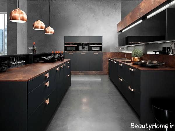 مدرن ترین دکوراسیون آشپزخانه های تیره