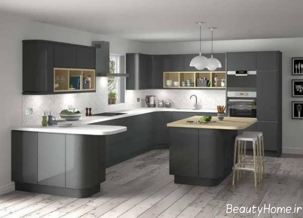 دکوراسیون زیبا آشپزخانه های تیره