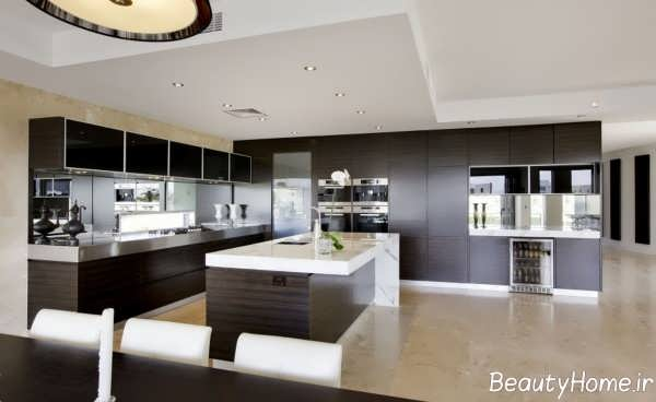 دکوراسیون خاص آشپزخانه های تیره