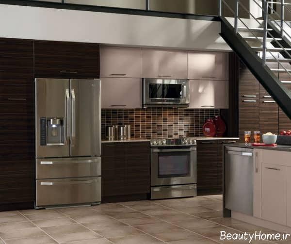 مدل کابینت آشپزخانه های گلاس