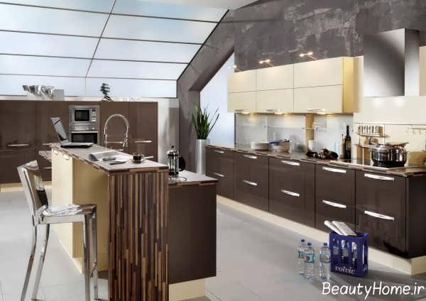مدل کابینت هایگلاس برای آشپزخانه مدرن