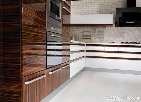 مدل کابینت موج دار آشپزخانه