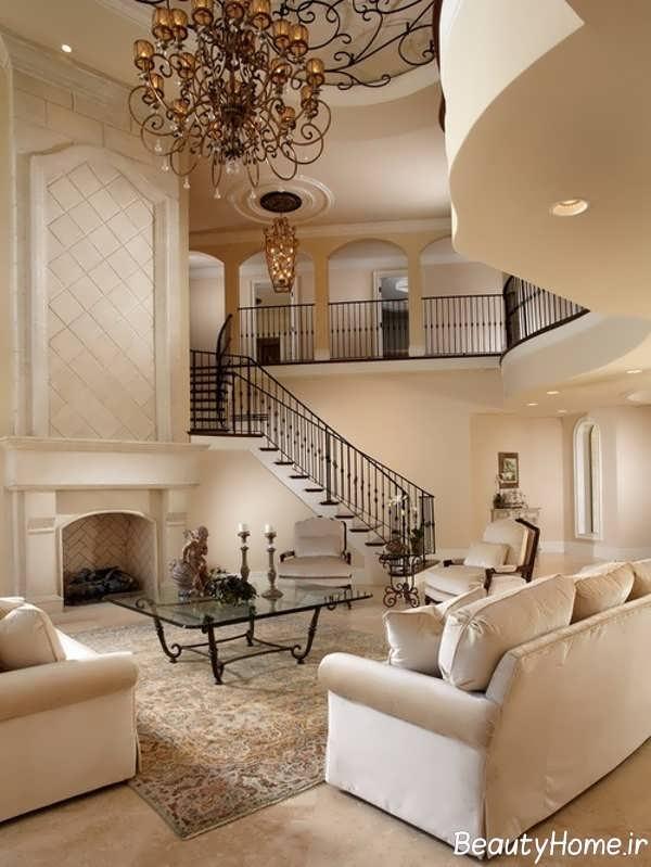 دیزاین اتاق پذیرایی و نشیمن دوبلکس