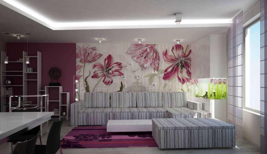 تزیین خانه با کاغذ دیواری فانتزی و دیوارپوش
