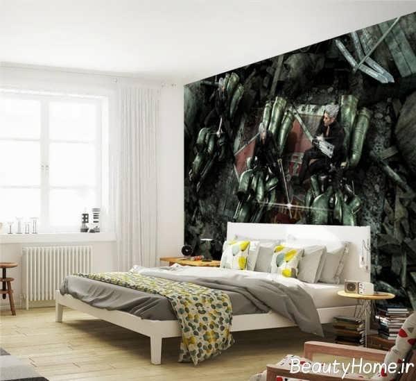 کاغذ دیواری جذاب فانتزی اتاق خواب