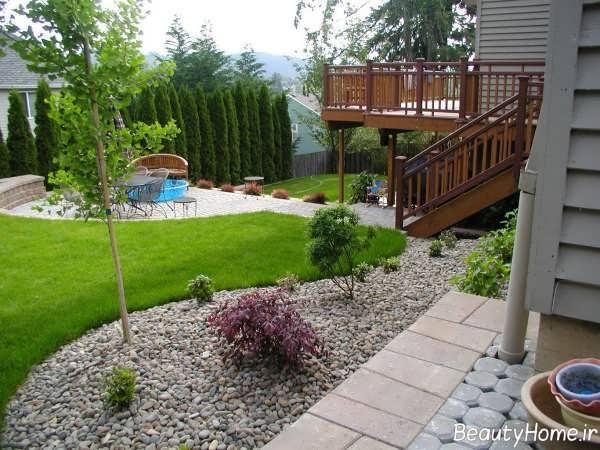 محوطه سازی شیک و جذاب باغ