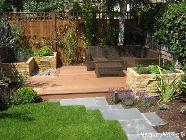 طراحی فضای سبز در باغ