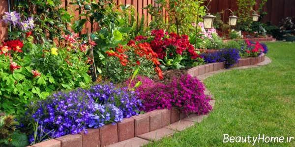 طراحی محوطه زیبا و شیک در باغ