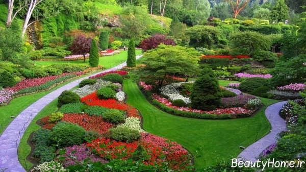 محوطه سازی زیبا و جذاب باغ