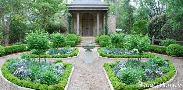 محوطه سازی زیبا و جذاب در باغ