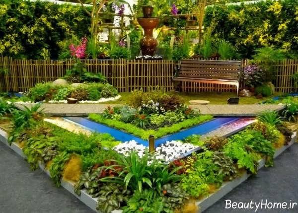 محوطه سازی زیبا و شیک باغ