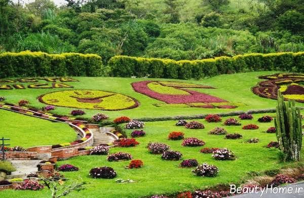 محوطه شیک و زیبا باغ