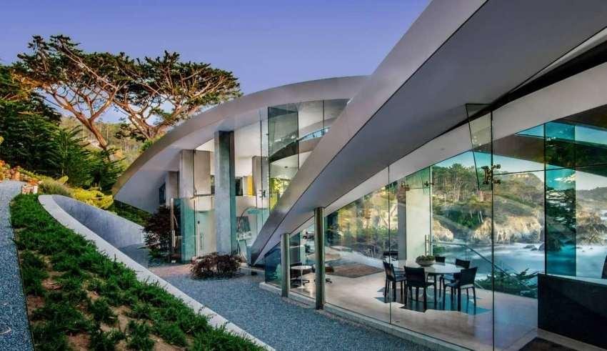 طراحی خلاقانه ویلای شیشه ای