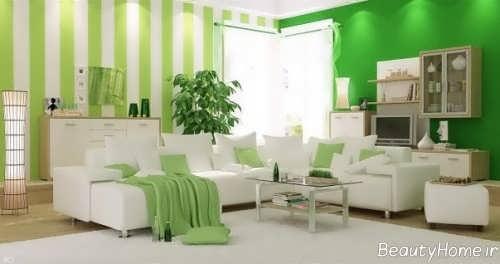 دکوراسیون سبز و سفید