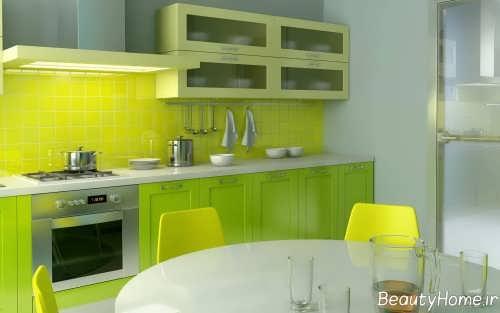 دکوراسیون آشپزخانه سفید و شیک