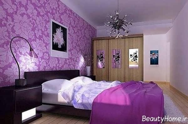دکوراسیون داخلی بنفش برای اتاق خواب
