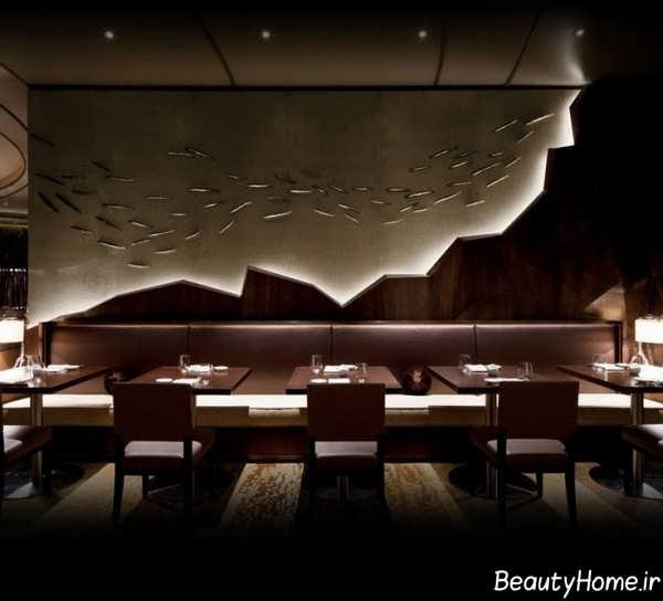 طراحی زیبای داخلی رستوران