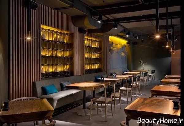 طراحی و فضای داخلی رستوران بزرگ