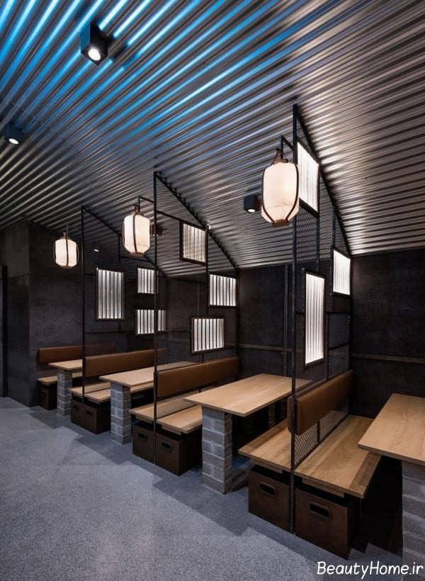 دکوراسیون داخلی رستوران مکان های تجاری
